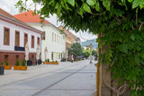 pedestrian street in Nitra, Slovakia