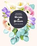 Vintage wedding invitation - 208756360