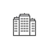Residential buildings outline icon. linear style sign for mobile concept and web design. Real estate simple line vector icon. Symbol, logo illustration. Pixel perfect vector graphics - 208757560