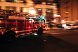 Chicago Fire Department (CFD) engine responds to emergency call