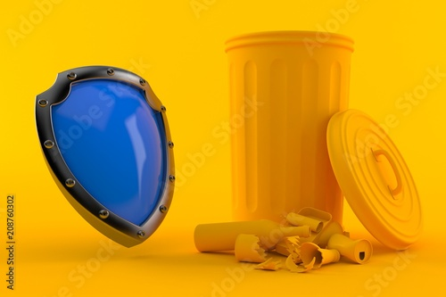 Environment background with protective shield