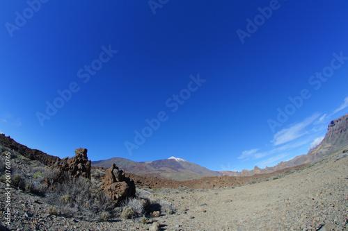 Canvas Donkerblauw Desert Landscape