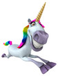 Fun unicorn - 3D Illustration - 208762737