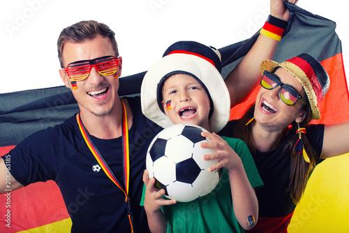 Fotobehang Voetbal stolze Fussballfans