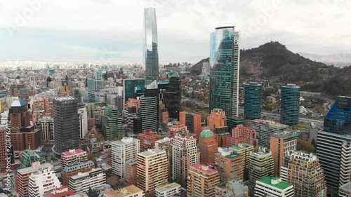 Wall mural Beautiful aerial footage of modern city