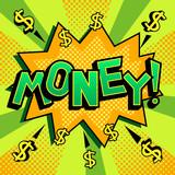 Money word comic book pop art vector illustration - 208769305