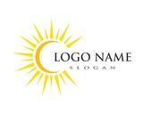 sun ilustration logo vector - 208770707