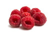 ripe raspberry close-up isolated