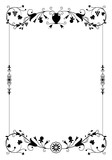Vector decorative frame in vintage style with floral ornamental elements: vine leaves, grapes and decorative vase.