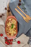 French Tartiflette Recipe Bacon, Potato and Reblochon Cheese Gratin - 208772157