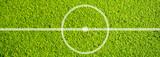 Fußball Mittelkreis aus der Vogelperspektive - 208772571
