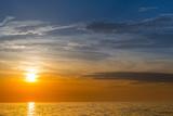 colourful sunset on the sea