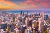 Chicago, Illinois, USA downtown cityscape at dusk. - 208775914