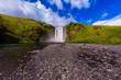 Iceland, waterfall Skogafoll summer - 208778398