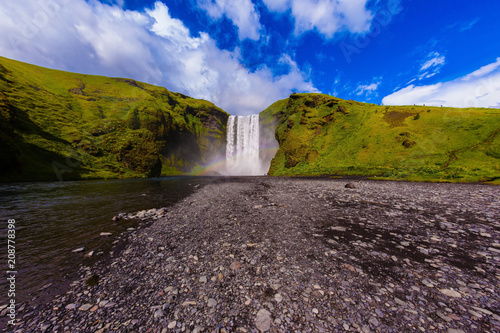 Iceland, waterfall Skogafoll summer - 208778398