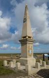 Monument at Dike in Munnikezijl Groningen - 208781594