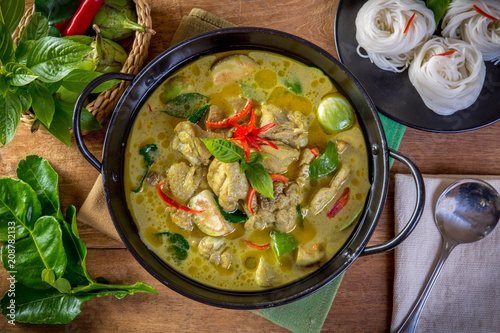 Foto Murales Green Chicken Curry,Thai cuisine