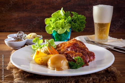 Foto Murales Pork hock in German with sauces delicious food