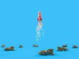 Rocket in flight - 208786991