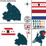 Map of Drenthe, Netherlands