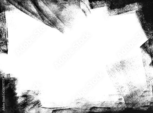 obraz lub plakat black grunge background, abstract texture of paint brush