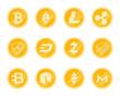 Crupto Coins Icons Set.
