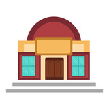 Isolated museum icon - 208801127