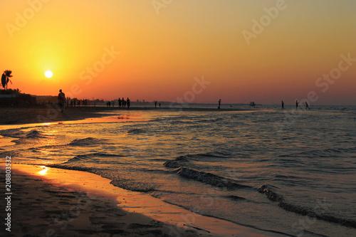 Aluminium Strand Sunset at Quram Beach Muscat Oman