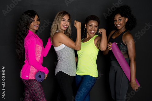 Plexiglas Fitness Group Of Fit Friends