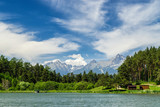 Lake with mountains and sky in background, Slovakia