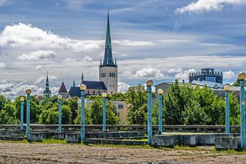 View of old Tallinn. Estonia