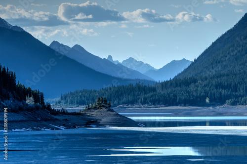 Aluminium Nachtblauw Spray Lake, Alberta, Canada