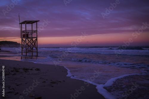 Aluminium Strand beach sunrise