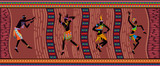 Fototapeta Abstrakcje - Ethnic dance african people © Iuliia