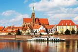 Wroclaw.Poland.View from Odra river. - 208817153