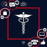 Caduceus medical symbol - 208817585