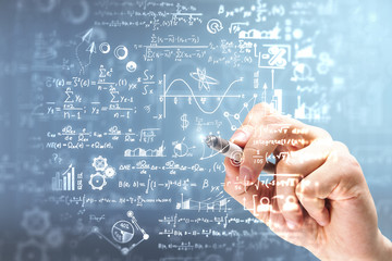 Science and algebra concept