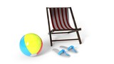 Summer background with the concept of goods, 3d rendering - 208831741