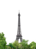 Eiffel Tower Paris white background