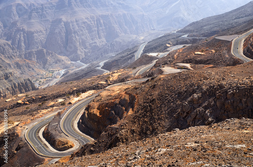 Aluminium Cappuccino Jebel Jais mountain in Ras Al Khaimah