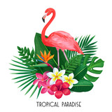 tropical banner with toucan - 208840584