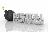Digital Disruption Bomb Explosive Change 3d Render Illustration - 208846978