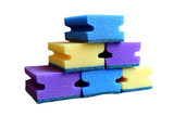 foam rubber sponge for washing dishes by hand - 208862938