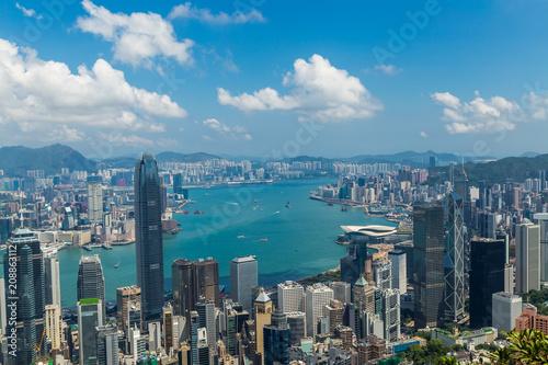 Aluminium New York Panoramic view of Hong Kong skyline. China