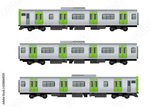 Fototapeta 電車、鉄道:山手線