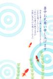 金魚 水草 暑中見舞い 背景  - 208866514