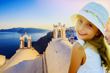 Amazing view with white houses in Oia village. - 208868976