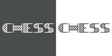 Tipografia CHESS en gris y blanco