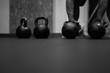 kettlebells into the gym - 208885395