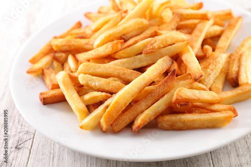 Leinwanddruck Bild french fried on plate